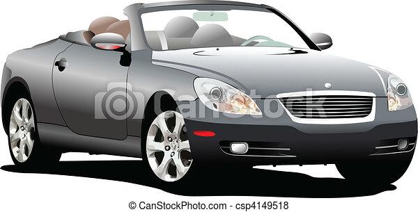 bussola, automobile, vettore, illus, road. - csp4149518