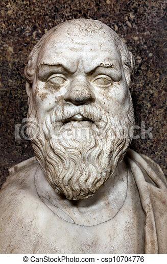 Bust of Socrates - csp10704776