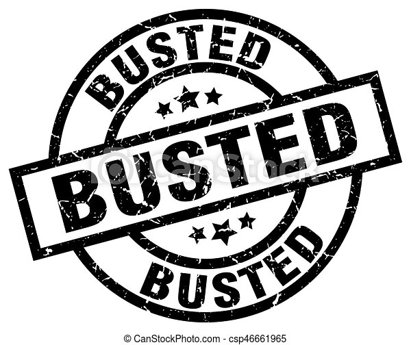 busted round grunge black stamp - csp46661965
