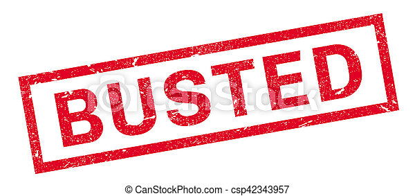 Busted rubber stamp - csp42343957