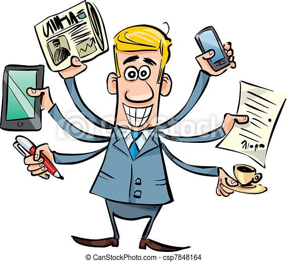 busy businessman - csp7848164