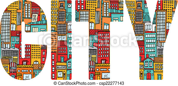Busy city word - csp22277143