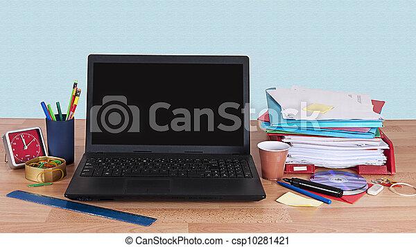Busy desk - csp10281421