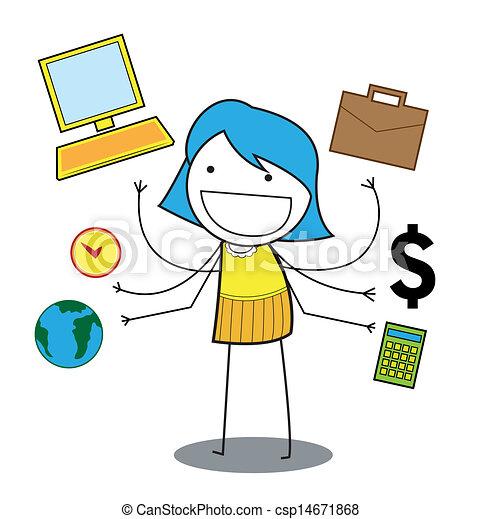 busy girl  - csp14671868