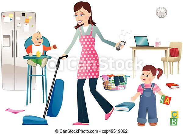 https://comps.canstockphoto.com/busy-mother-and-childreneps-clip-art-vector_csp49519062.jpg