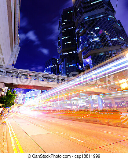 Busy traffic in modern city - csp18811999