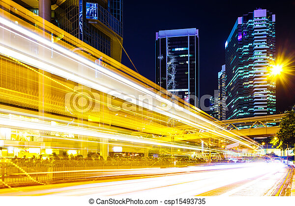 Busy traffic light in city - csp15493735