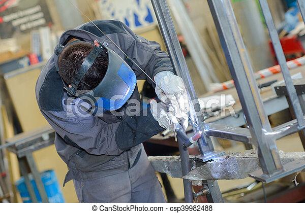 busy welder - csp39982488