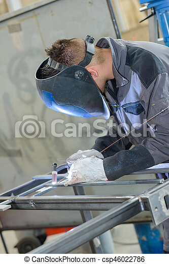 busy welder - csp46022786