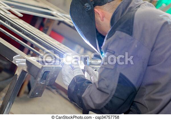 busy welder - csp34757758
