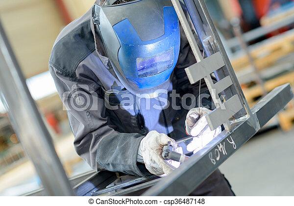 busy welder - csp36487148