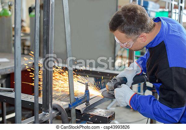 busy welders - csp43993826