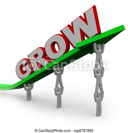 but, gens, atteindre, -, croissance, collaboration, par, grandir - csp6791892