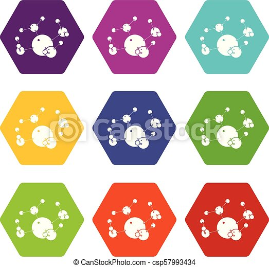 Butane Icons Set 9 Vector Butane Icons 9 Set Coloful Isolated On