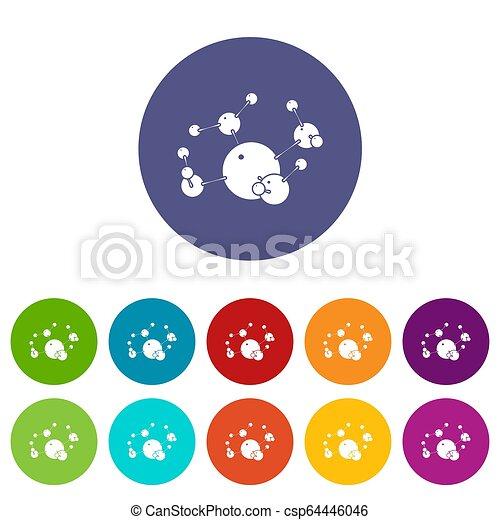 Butane icons set color - csp64446046