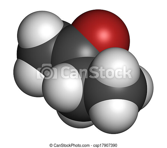 Butanone (methyl ethyl ketone, MEK) industrial solvent, chemical structure   Atoms are represented as spheres with conventional color coding: hydrogen