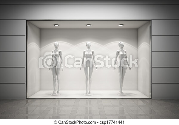 butik, windows přehlídka - csp17741441