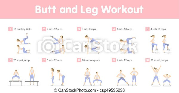 Butt and legs workout. Butt and legs workout set ...