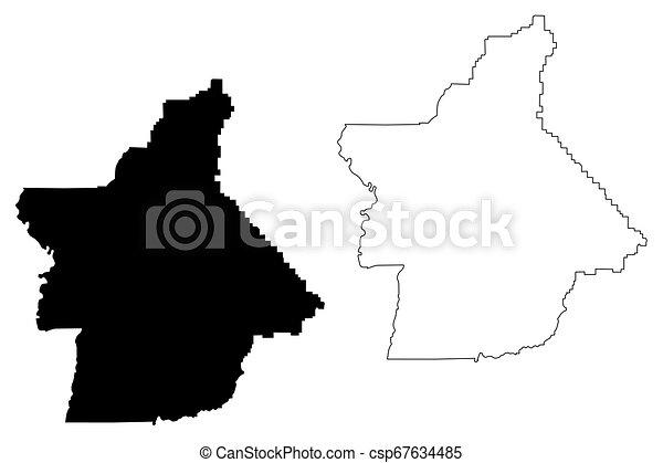 e county, california map vector. e county, california ... on