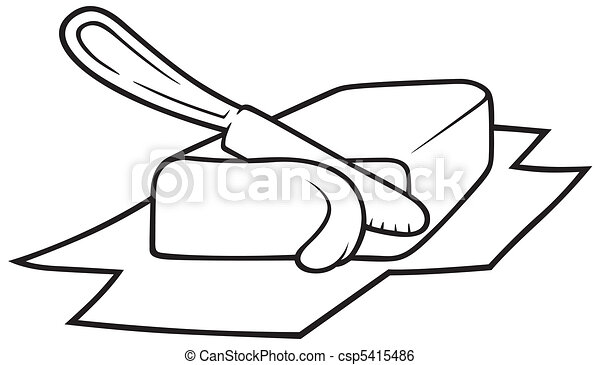 knife cutting butter black and white cartoon illustration clip rh canstockphoto com butterfly clip art butter clip art free