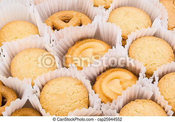 Butter Cookie Background/ Texture - csp25944552