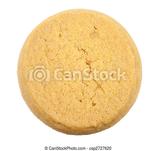 Butter cookies isolated - csp2727620