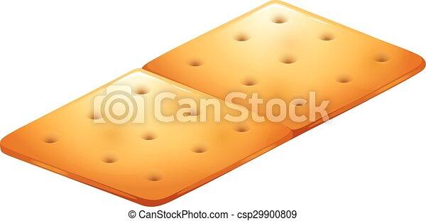 Butter cracker on white - csp29900809