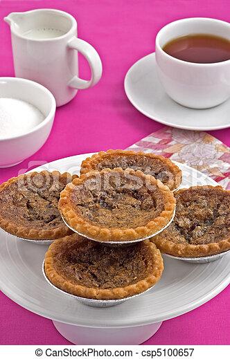 Butter tarts and tea - csp5100657