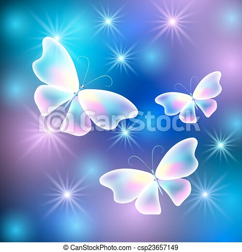 Butterflies and stars - csp23657149