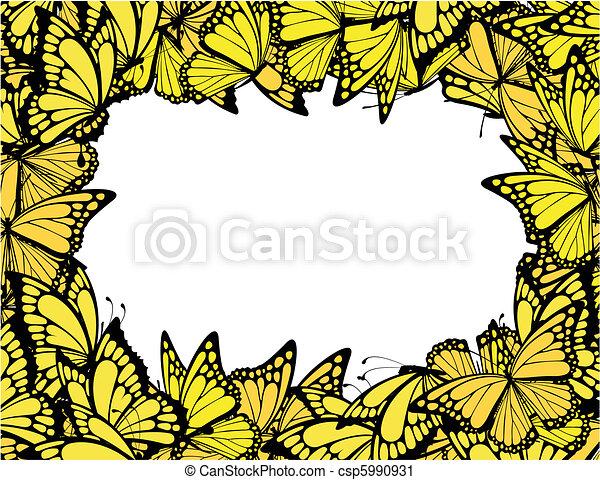 butterflies frame - csp5990931