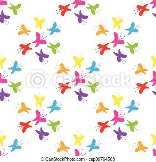 Butterflies pattern - csp39764568