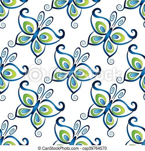 Butterflies seamless - csp39764570