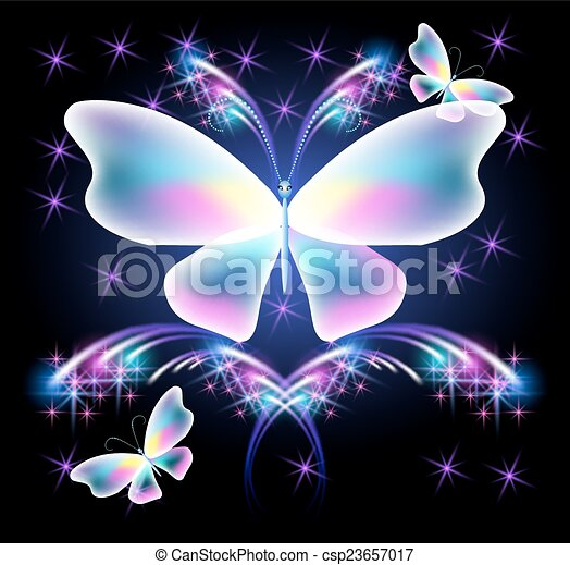 Butterfly and glowing salute - csp23657017