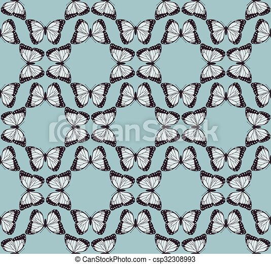 Butterfly Background Pattern - csp32308993