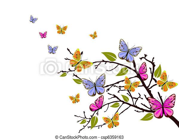 butterfly branch - csp6359163