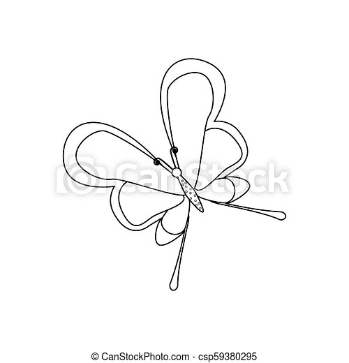 Butterfly coloring pages - csp59380295