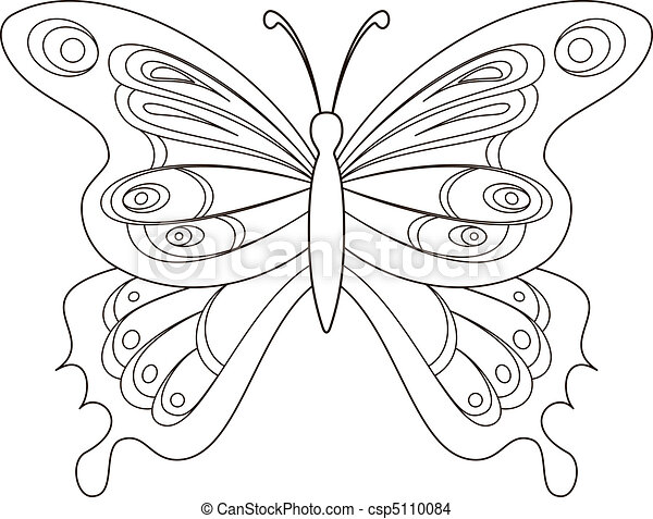 Butterfly, contours - csp5110084