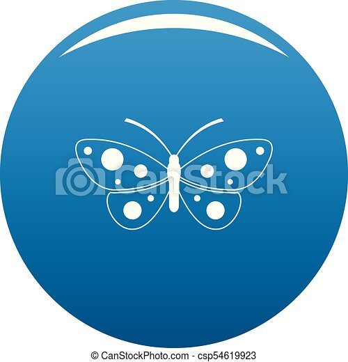 Butterfly icon blue vector - csp54619923