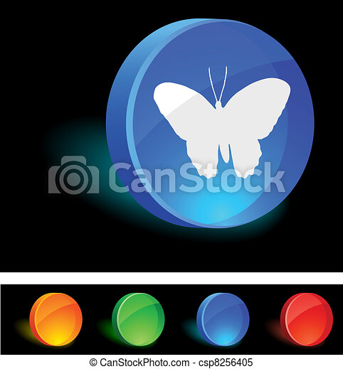 Butterfly Icon. - csp8256405