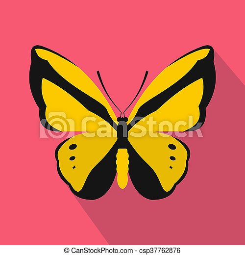 Butterfly icon, flat style - csp37762876