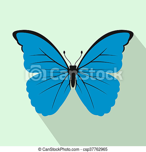 Butterfly icon, flat style - csp37762965