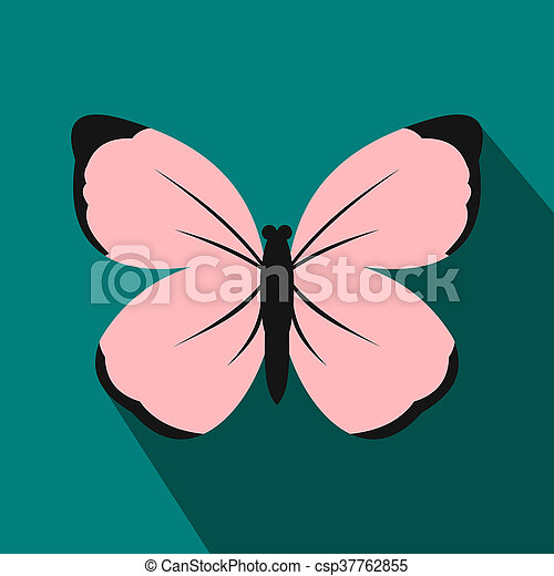 Butterfly icon, flat style - csp37762855