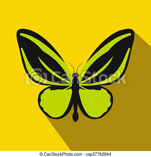 Butterfly icon, flat style - csp37762844