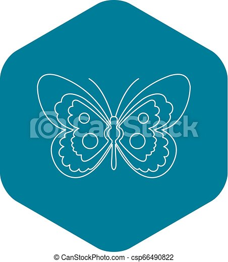 Butterfly icon, outline style - csp66490822