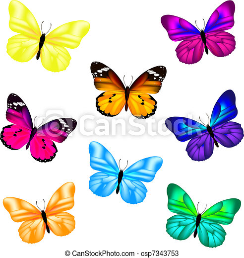 Butterfly Icon Set - csp7343753