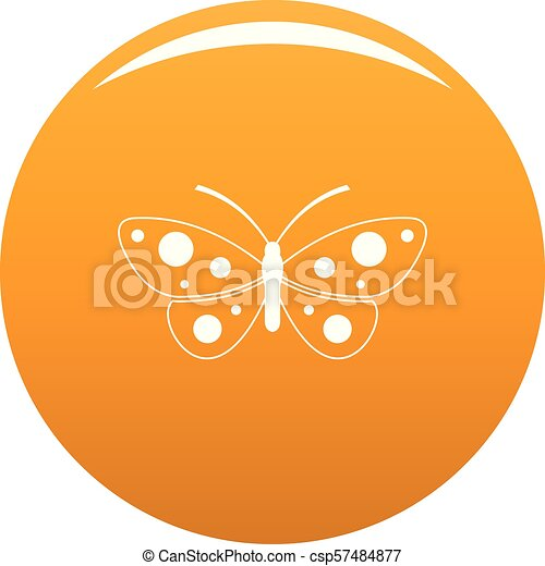 Butterfly icon vector orange - csp57484877