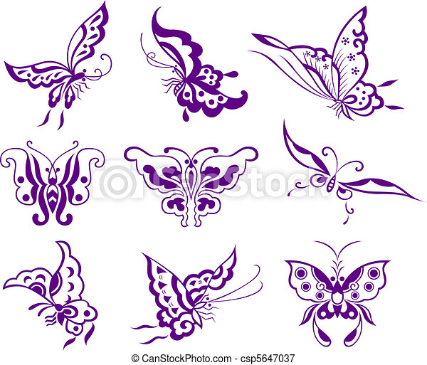 butterfly illustration - csp5647037