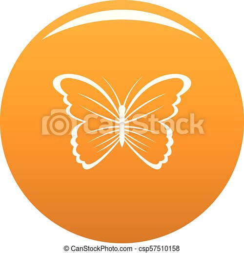 Butterfly in nature icon vector orange - csp57510158