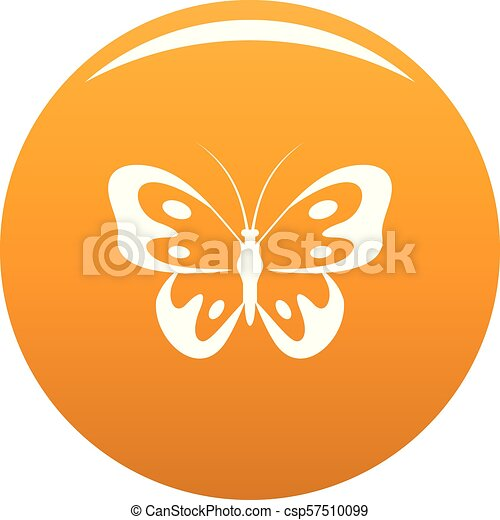 Butterfly in wildlife icon vector orange - csp57510099