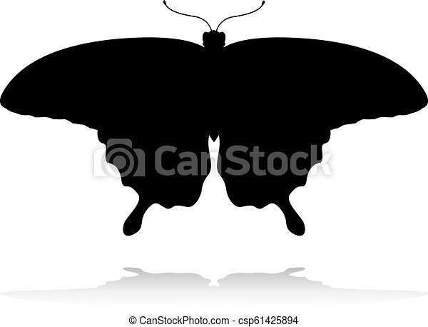 Butterfly Insect Animal Silhouette - csp61425894